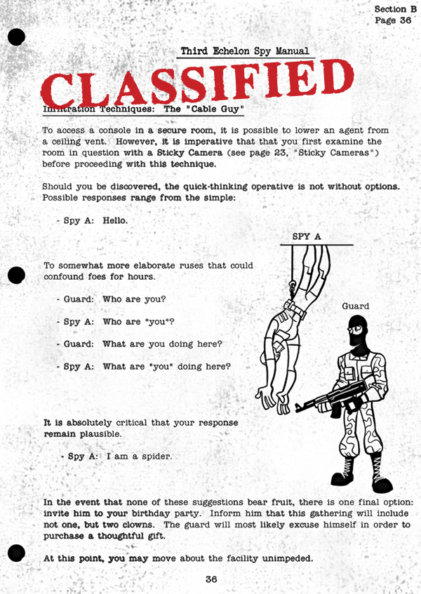 Splinter Cell Chaos Theory Spy Manual Page 2