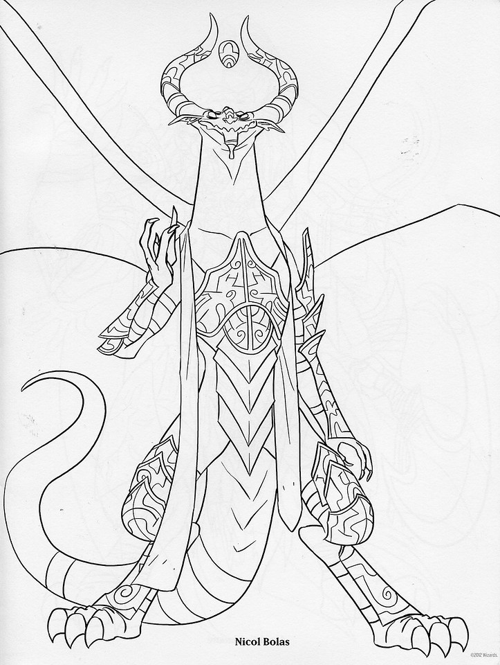 Magic the Gathering Coloring Book Page 1