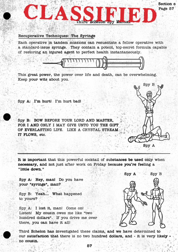 Splinter Cell Chaos Theory Spy Manual Page 1